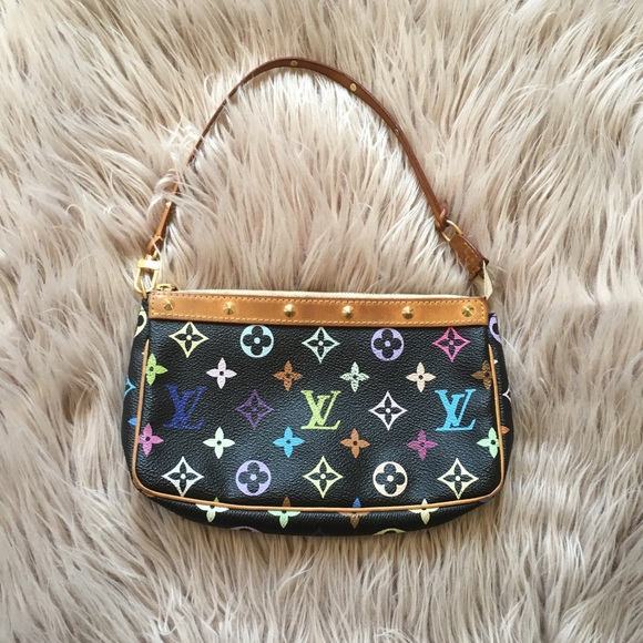 Louis Vuitton Handbags - Louis Vuitton Black Multicolor Monogram Pochette